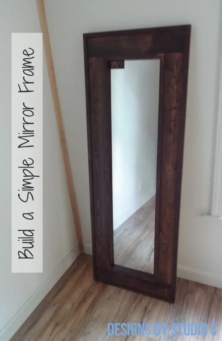 DIY Furniture Plans to Build a Simple Mirror Frame - Completed View
