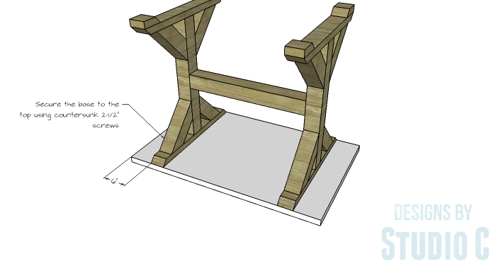 DIY Furniture Plans to Build a Ballard Designs Inspired Tatum Trestle Counter Table-top-2