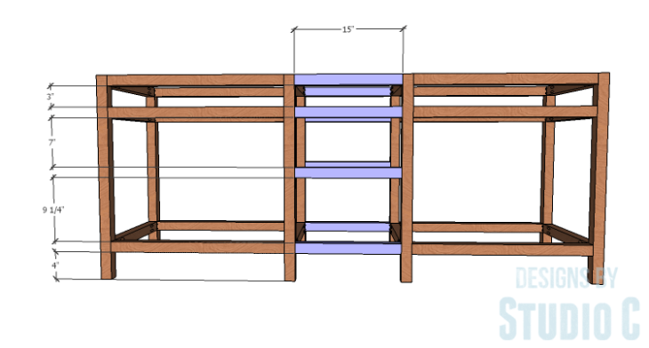 DIY furniture plans to build a Cuszco Console Table_Center Connectors