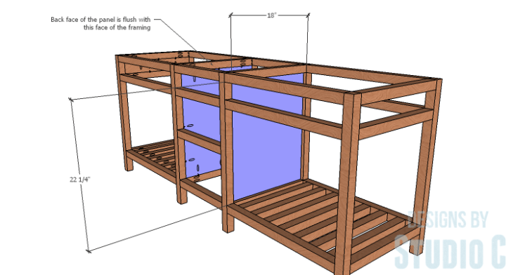 DIY furniture plans to build a Cuszco Console Table_Center Panels
