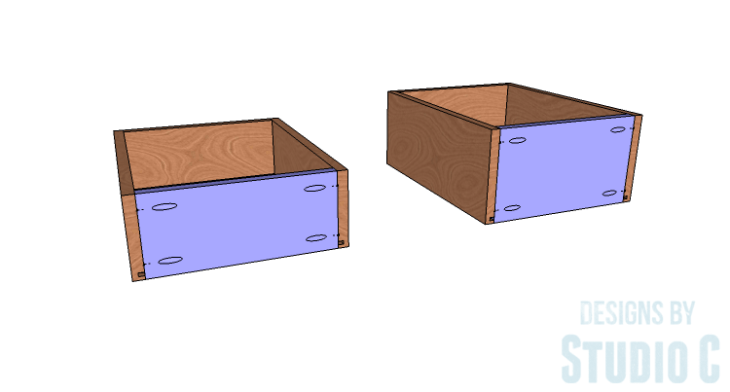 DIY furniture plans to build a Cuszco Console Table_Drawer Box Front