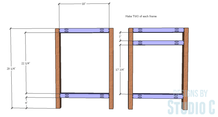 DIY furniture plans to build a Cuszco Console Table_Side Frames