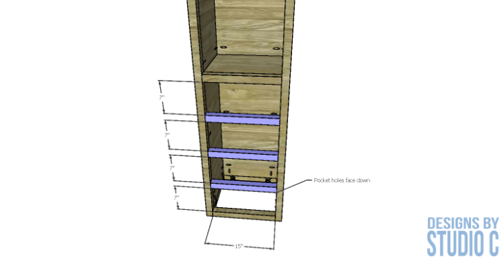 diy-furniture-plans-build-bathroom-linen-tower_drawer-framing