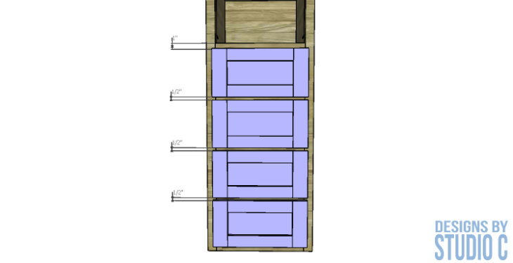 diy-furniture-plans-build-bathroom-linen-tower_drawer-front-spacing
