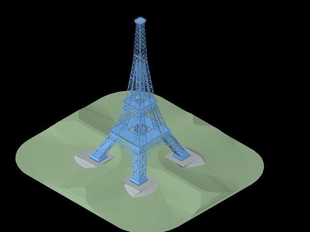 Tour Eiffel 3D DWG Model For AutoCAD Designs CAD