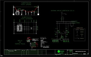Diagram Electrical Substation DWG Full Project for AutoCAD
