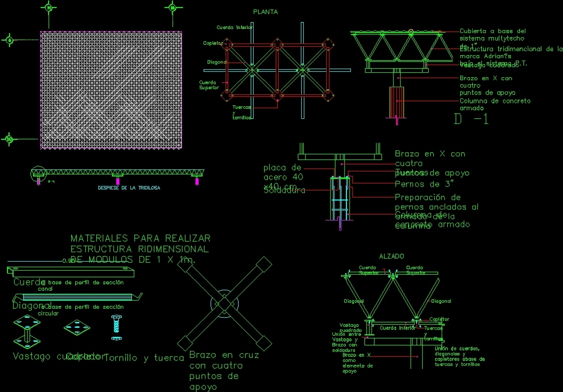 Tridilosa DWG Detail For AutoCAD Designs CAD