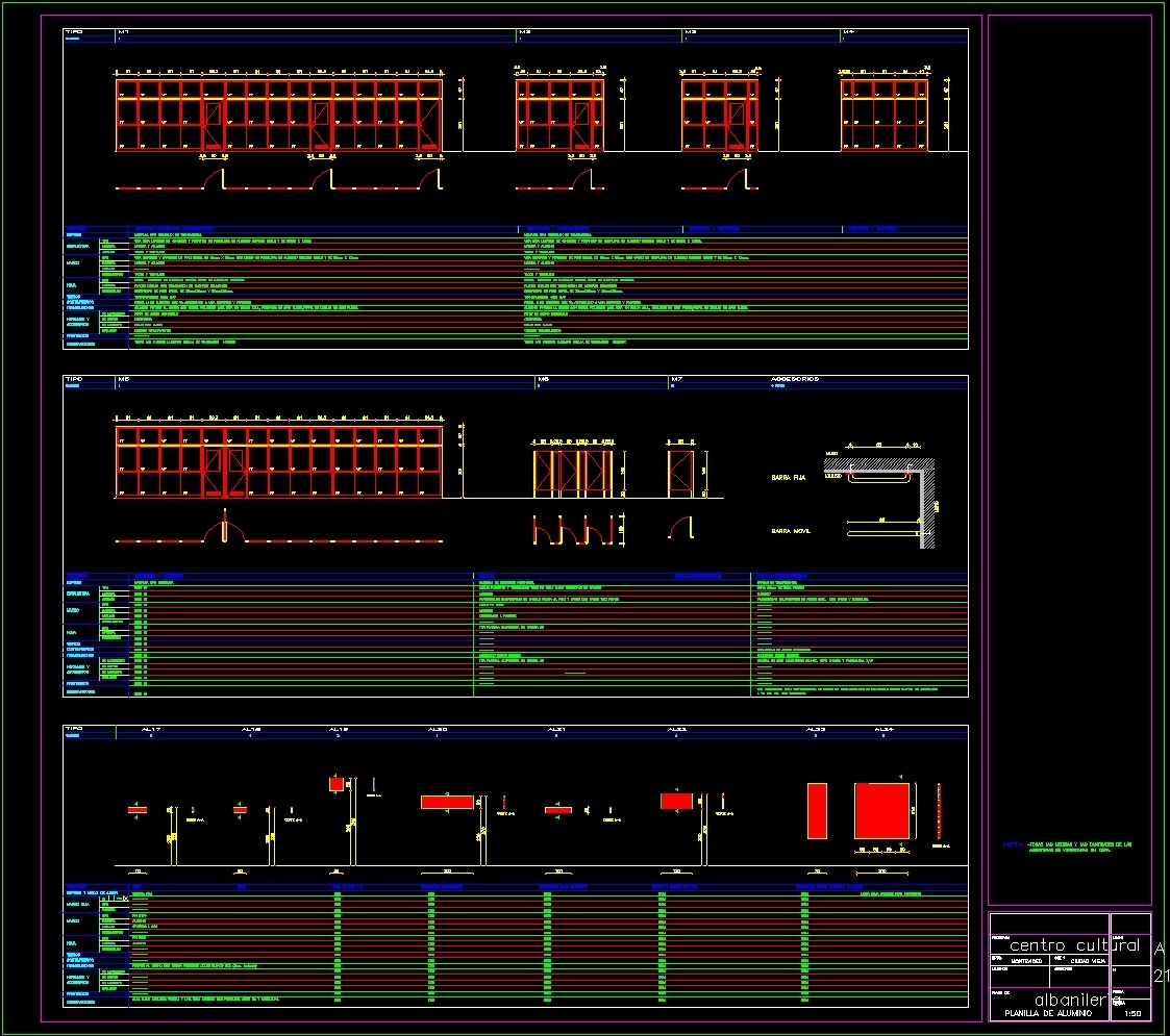 Cultural Center Montevideo Dwg Section For Autocad