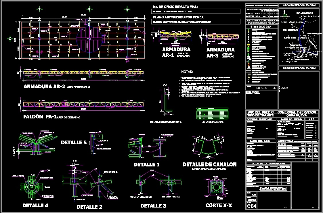 Service Station Project Dwg Full Project For Autocad