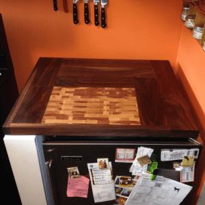 Custom Cabinet and Cutting Board