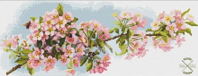 яблоня схема вышивки
