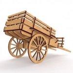 Telezhka Iz Fanery (Cart 3D Puzzle) dxf File
