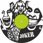 Laser Cut Joker Vinyl Record Wall Clock Template Free Vector    ok