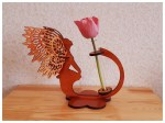 Laser Cut Angel Flower Stand Planter Free Vector