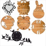 Laser Cut Decorative Analog Wall Clocks Free Vector