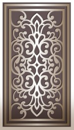 Laser Cut Panel Design Vector DXF File