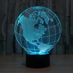 Laser Cut Globe 3d Illusion Lamp DXF File