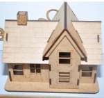 Laser Cut Small Simple House Free Vector