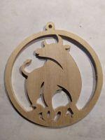 Laser Cut Bull Symbol New Year 2021 Decoration 3mm Plywood PDF File