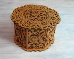 Laser Cut Decorative Basket With Lid Octagon Basket Free Vector