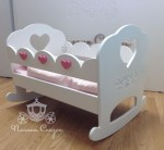 Laser Cut Doll Rocking Bed Free Vector