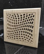 Laser Cut Square Wooden Ventilation Grill Pattern Free Vector
