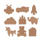 Laser Cut Wooden Magnets For Kids Free Vector
