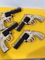 Laser Cut Wooden Pistol Firearm 351 Magnum Revolver DXF File