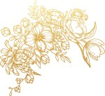 Laser Engraving Flower On Wooden Notebook Cover Free Vector