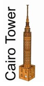 Laser Cut Cairo Tower 3D Model Free Vector