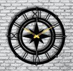 Laser Cut Compass Wall Clock Sailor Wall Clock Free Vector