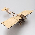Laser Cut DIY Wooden Airplane Toy Free Vector