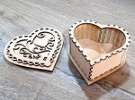 Laser Cut Decorative Heart Box With Lid Free Vector