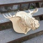 Laser Cut Elk Head Trophy DXF File