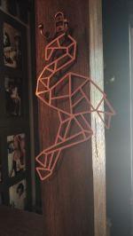 Laser Cut Flamingo Polygonal Wall Decor Geometric Art Free Vector