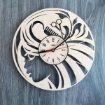 Laser Cut Hair Salon Wall Clock Beauty Salon Wall Art Decor Free Vector