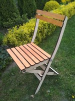 Laser Cut Modern Folding Chair Free Vector