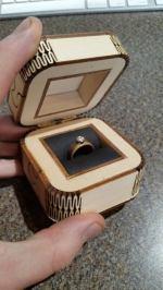 Laser Cut Wedding Ring Box SVG File