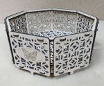 Laser Cut Wooden Octagon Box Storage Case Decorative Packaging Box Free Vector