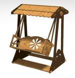Laser Cut Wooden Swing Chair Free Vector