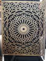 pattern islamic dxf on wood