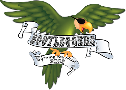 Bootleggers Saloon & Galley new parrot logo