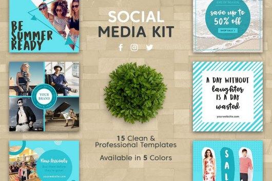 15 Clean Instagram & Facebook Post Templates