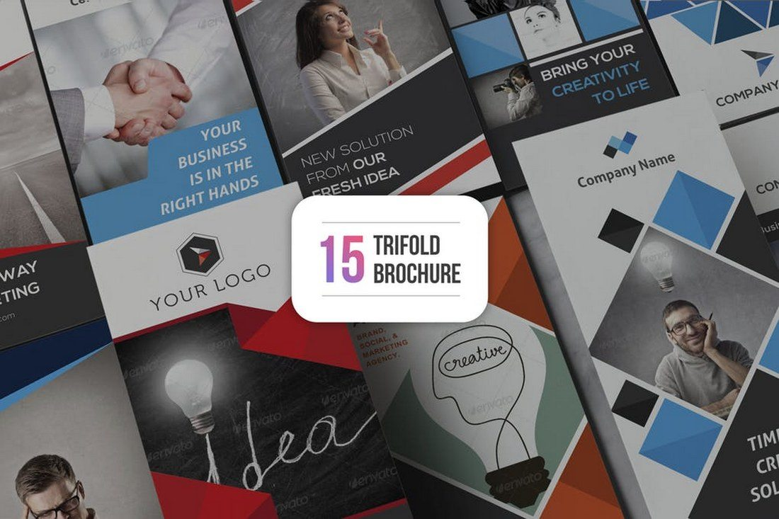 15 Trifold Brochure Templates - 70+ Modern Corporate Brochure Templates