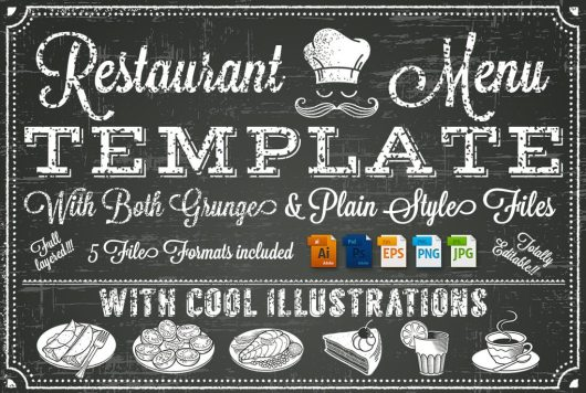 A Full Vector Template Chalkboard Menu For Restaurant And Snack Bars File Is Organized With Layers Ease Of Use Text Fully Editable In AI