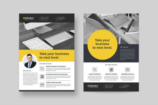 2 Company Flyers Template