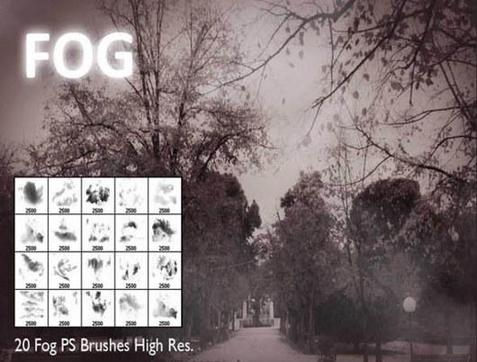 20 Fog Photoshop Brushes