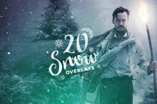20 Snow Photoshop Overlay Textures