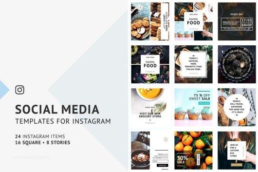 24 Food Instagram Templates