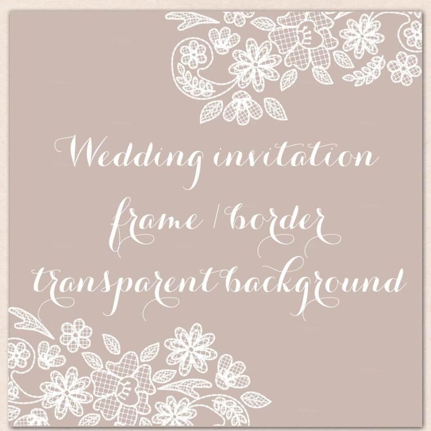 Wedding Invitation Lace Border